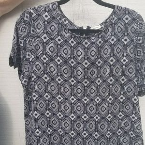 Dressy patterned top